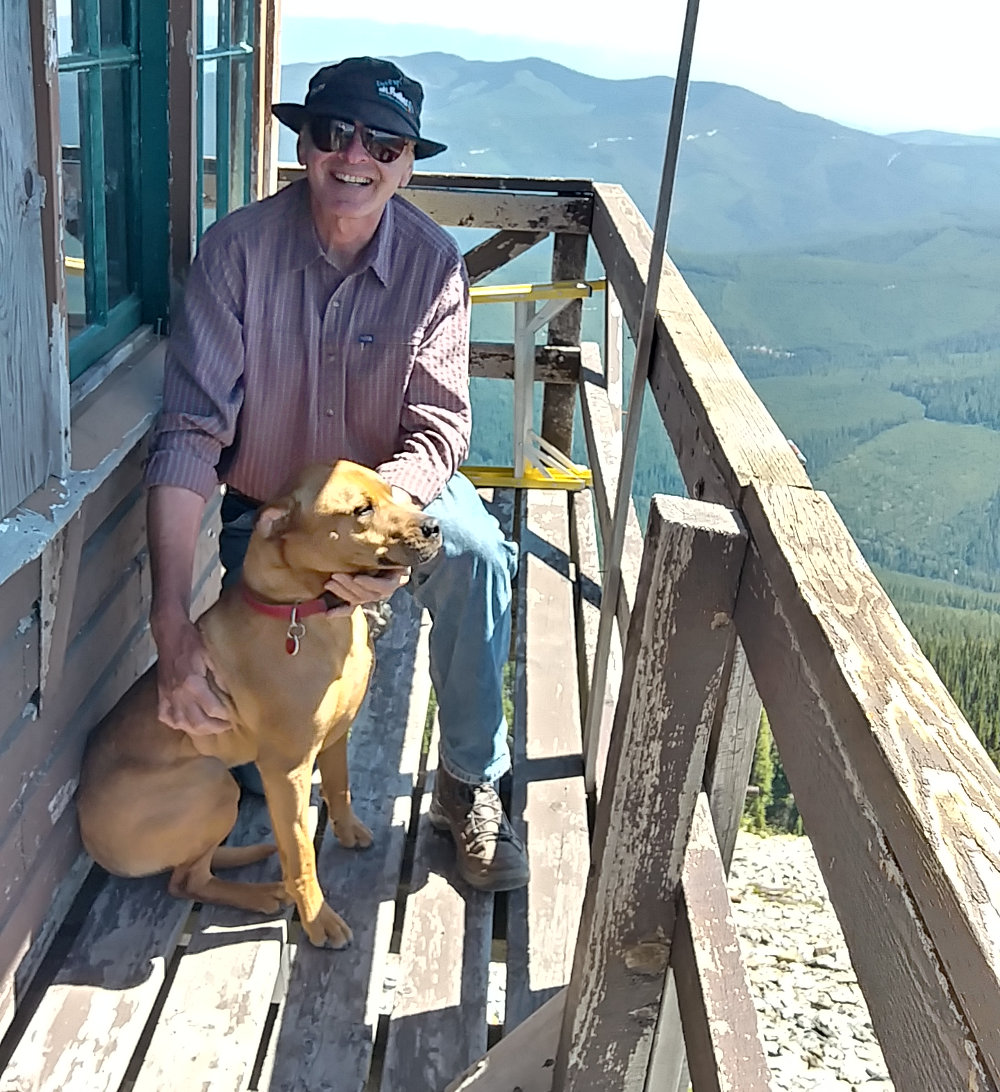 Bob and Benny on Mt. Henry Lookout